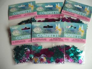 Tinkerbell Confetti Birthday Party Supply Craft 6 PC