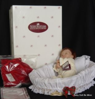 New Ashton Drake Tiny Emmy Christmas Ensemble by Linda Webb Doll Crib Outfit