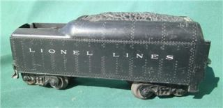 Lionel Lines Pre War Train O Scale Coal Tender Car Model Train RR Set