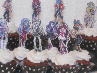 Monster High Cupcake Cake Toppers One Dozen Birthday Party Decorations Supplies