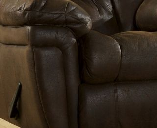 Living Ashley Blake Walnut Reclining Sofa Loveseat