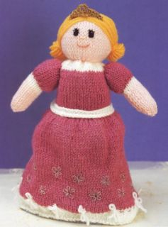 Knitting Pattern For Upside Down Cinderella Doll : printed paper knitting pattern instructions to make moondance