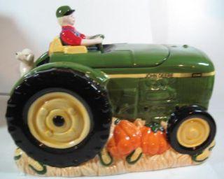 John Deere Tractor Ceramic Cookie Jar Gibson