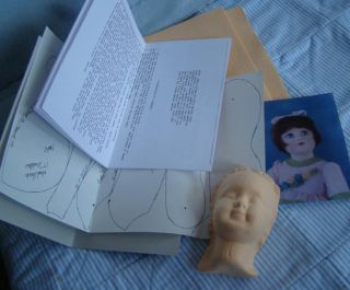 Molded Felt Doll Kit to Make Beautiful Toddler 17in