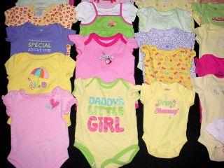 One Piece T Shirt Clothes Lot Baby Girl Newborn to 0 3 3 6 Months Under Shirt