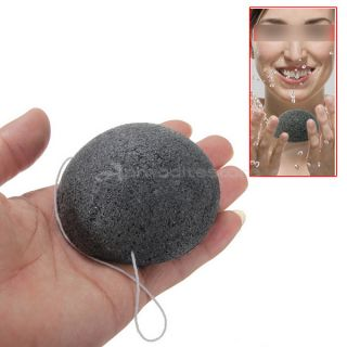 Hot Natural Konjac Konnyaku Facial Puff Face Deep Cleansing Washing Sponge Black