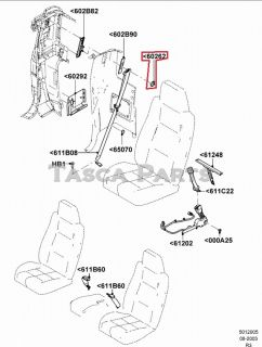 New Passenger or Driver Side Front Upper Seat Belt Cover 2004 11 Ford Ranger