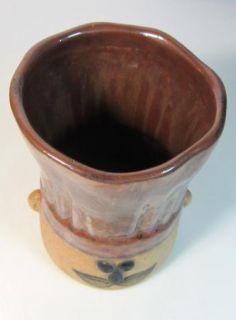 Hand Painted Takahashi San Francisco Chef Stoneware Pottery Utensil Holder