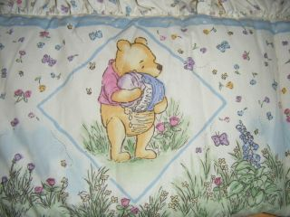 "Disney 1994 Classic Pooh by Red Caliope Baby Bed Bumper Pads 132"" x 10"" RN82521"