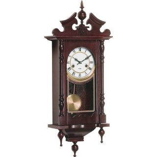 Kassel Wall Clock 15 Day Key Wound Chime New Free Shipping Pendulum Wood