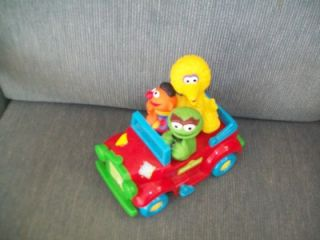 Vintage Tyco Jim Henson Sesame Street Wind Up Car Ernie Oscar and Big Bird