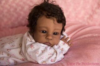 "Reborn Baby AA Ethnic Prototype 1 of 2 ""Zamari"" Sculpt by Angela Wilkins"