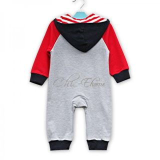 Baby Unisex I Love Mom Dad Boy Girl Cute Hoodie Bodysuit Romper Clothes 0 1 2