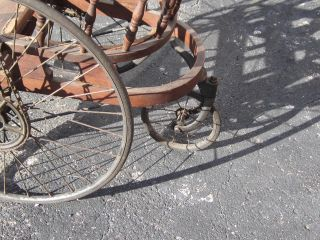 Antique Hand Crank Chain Driven Wheelchair Unique Unusual