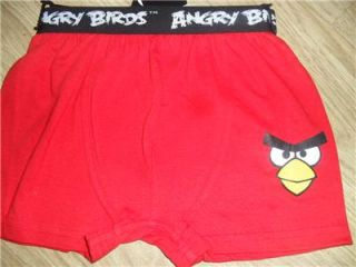 BNWT Angry Birds 2 Pack of Boys Red Grey Boxer Shorts Boxers Briefs Underwear