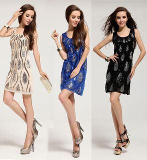 Sexy Womens Party Dresses Sequin Evening Cocktail Dresses Wedding Bridesmaid