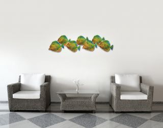 Fish Massive Cutout Metal Art Modern Home Decor Metal Wall Sculpture