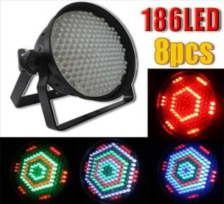 8pcs RGBW 186 LED Par DMX512 8 Channel Stage Light for Stage Light DJ Show
