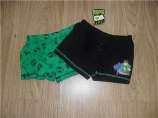 Ben 10 Boxer Shorts Briefs Pants Alien Force Black and Green 2 Pack Brand New