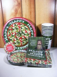 Duck Dynasty Christmas Party Supplies for 8 Plates Set