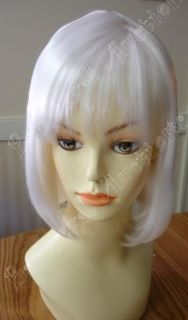 Icy White Short China Doll Wig Cosplay Anime Costume Crossdresser Bob