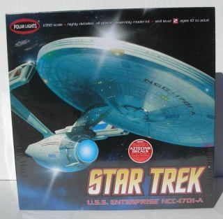 Polar Lights 1 350 Star Trek USS Enterprise NCC 1701 A Model Kit Decals POL808