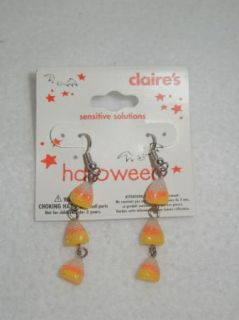 Claire's Halloween Fashion Jewelry Earrings Pierced Ears Pumpkins Candy Corn