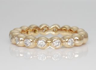 Sonia B 0 40TCW Diamond 14k Rose Gold Stackable Eternity Band Ring Size 6 5