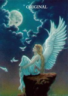 Blue Angel Cross Stitch Pattern Fantasy