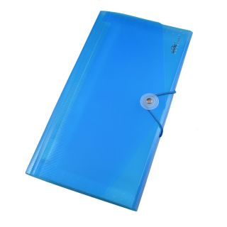 Letters Stickers 13 Pocket File Folder Examination Paper Holder Clear Blue