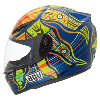 Agv K3 5 Continents Rossi Helmet Full Face Street Motorcycle Blue Green Orange