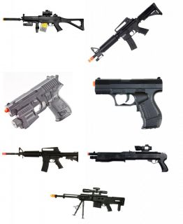 7x Used Airsoft Gun Shotgun Pistol Rifle Gun Lot Bulk Spring Electric AEG BB