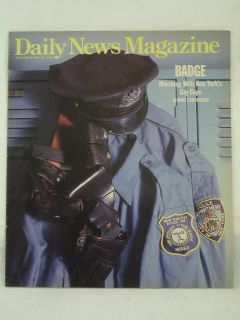 1990 Daily News Magazine New York Badge Marching with New York's Gay Cops