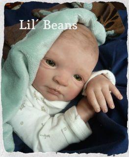 Reborn Baby Girl Nina Sculpt Gudrun Legler Art Doll So Sweet Lil' Beans