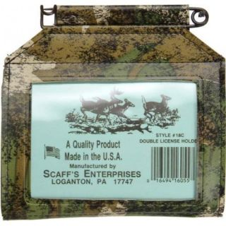 Scaffs Enterprises Camouflage Hunting Fishing License Holders USA Made