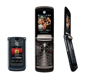 Motorola RAZR 2 V8 Blue Unlocked GSM Sim Flip Phone with 2 MP Camera Video MP3