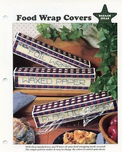 Food Wrap Covers Bargello Mug Plastic Canvas Pattern Leaflet New