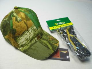 Hunting Fishing Camouflage Cap with 5 LED Lights and Fishing Cataplut