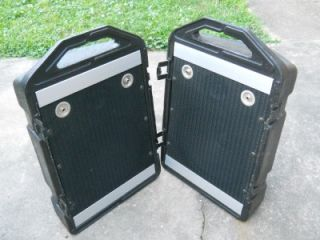 Pair of Peavey Mini Monitor PA Speakers Floor Set Snap Together Easy Pack