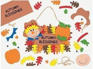 1 Autumn Blessings Sign Foam Craft Kit Thanksgiving Fun