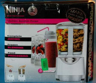 New Ninja Kitchen System Pulse Food Drink Mixer Blender Processor Open Box