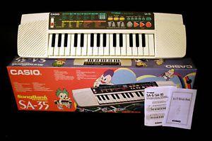 RARE Vintage Casio SA 35 Keyboard Electronic Piano New