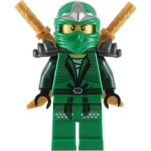 Lego Ninjago Minifigure Lloyd ZX 2 Gold Shamshir Swords Green Ninja with Armor