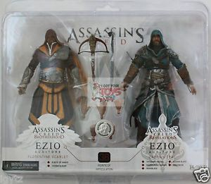 """Assassins Creed Brotherhood Revelations 2 Pack NECA Game 7"""" 2012 Action Figures"""