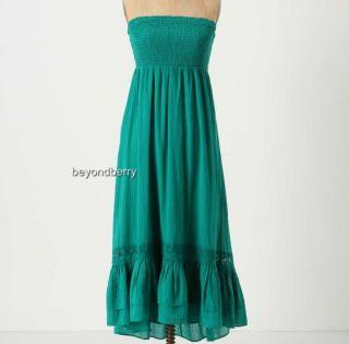 New Anthropologie Maeve Smocked Gauze Dress Size s M