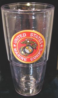 Large 24 oz USMC Marine Corps Tervis Insulated Tumbler