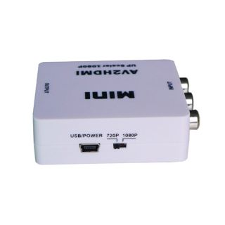 New Mini RCA AV CVBS to HDMI 720P 1080p Vdeo Converter Adapter