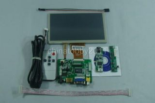 HDMI VGA 2AV Driver Board 7inch 800 480 AT070TN90 LCD Panel Touch Panel Remote