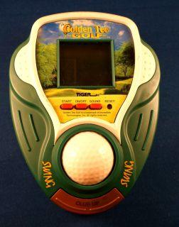 Golden Tee Golf Tiger Electronic Handheld Video LCD Game Arcade Ball Club Golfer