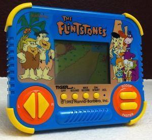 The Flintstones Handheld LCD Video Game 1992 Tiger Electronics Very RARE